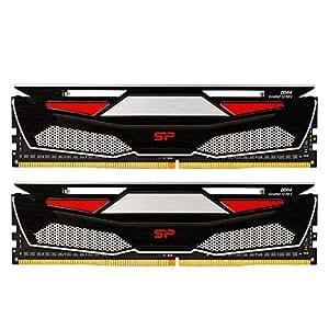 シリコンパワー デスクトップPC用メモリ DDR4-2400(PC4-19200) ヒートシンク付き 8GBx2 288Pin 1.2V CL17 永久保証 SP016GBLFU240BD2