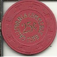 $ 0.25 California Commerce ClubカジノチップObsoleteレッド