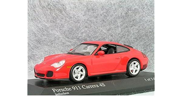 Porsche 911 996 Coupé Carrera 4S indisch rot 1:18 Maisto