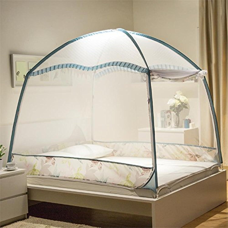 royal- Mosquito Nets暗号化heighteningブラケットファスナー( 1.8 M ( 6フィート)ベッド) ブルー