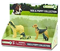 CollectA Dogs and Puppy Figure Set (4-Piece), Set 1 おもちゃ [並行輸入品]