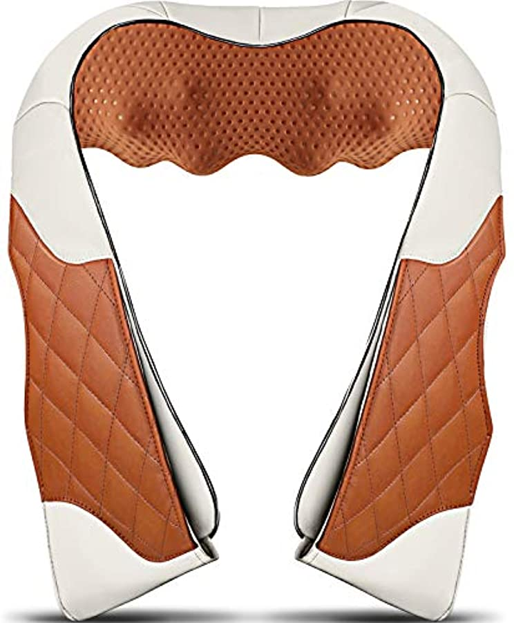 サスティーン土曜日分数Neck Massager with Heat, Deep Kneading Back Massager, 3D Massage for Back Neck Shoulder Waist and Foot, Shiatsu...