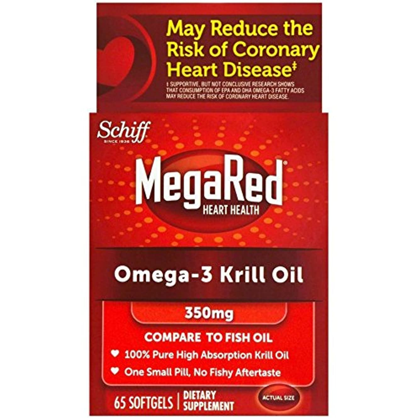 シャックル二徹底海外直送肘 Schiff Megared Omega-3 Krill Oil, 300 mg, 60 sgels