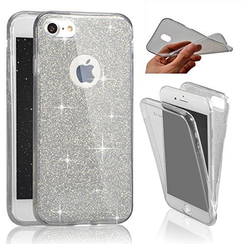 iPhone SE、SevenPandaソフトケースフルカバー360度スパークリングキラキラ防止スクラッチハルカバー超薄透明カバー[衝撃吸収] iPhone 5SカバーシェルケースiPhone 5 / 5S / SE用 - ブラック