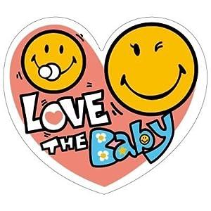 プロキオン キレイにはがせるステッカータイプ スマイリーフェイスドライブサイン LOVE THE Baby SFD-03