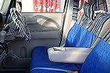 シンプルモダンスタイル 前席シートカバー(1席) 軽自動車・小型車 トリノストライプ(ブルー)