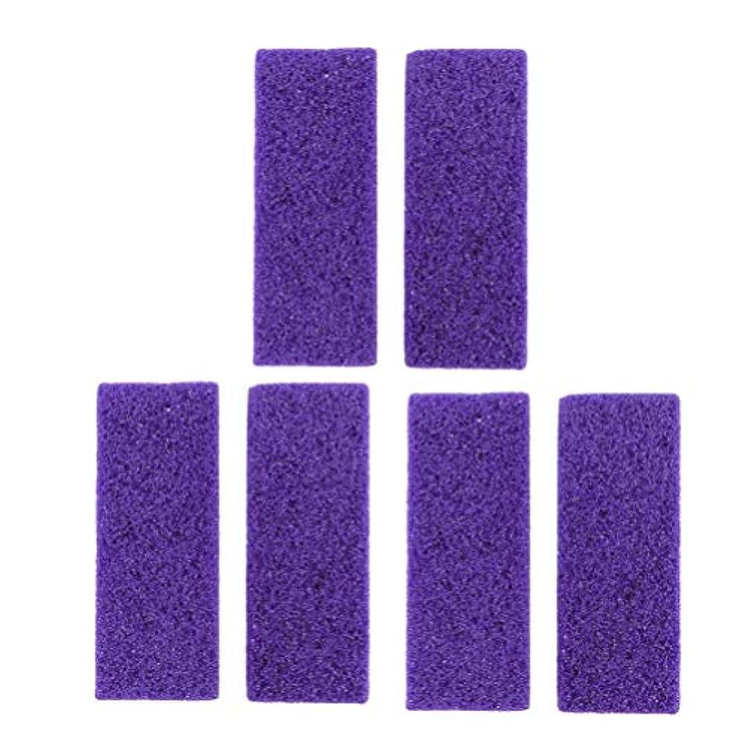 ポット繊維計り知れないHealifty 死んだ皮膚のための足の軽石足のケアカルスリムーバー石の足のペディキュアツールは、ハード皮膚6PCSカルス