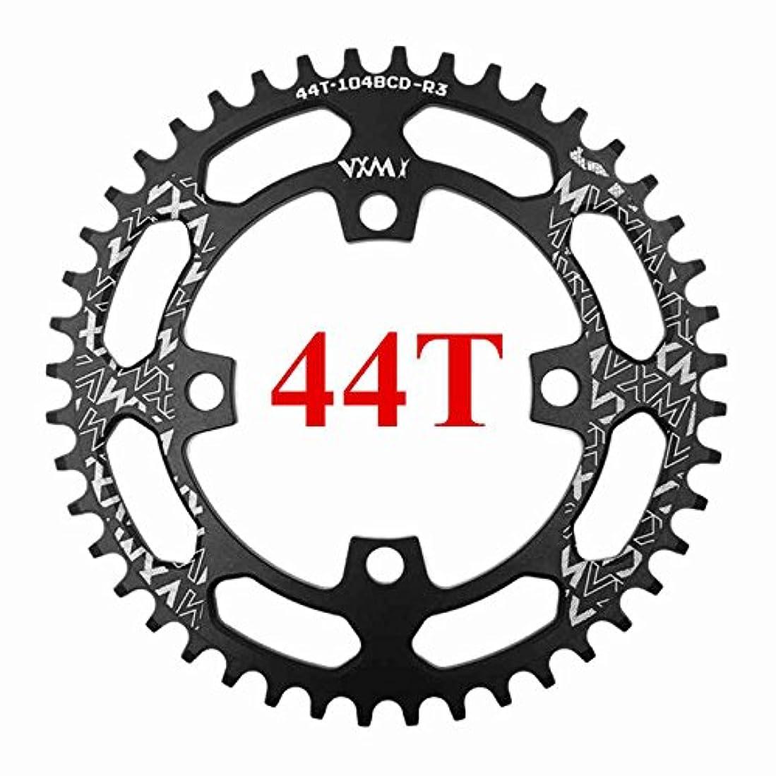 文庫本変形マーカーPropenary - 自転車104BCDクランクオーバルラウンド30T 32T 34T 36T 38T 40T 42T 44T 46T 48T 50T 52TチェーンホイールXT狭い広い自転車チェーンリング[ラウンド44Tブラック]