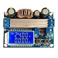 LCDディスプレイ付き4A昇降圧コンバータ?モジュール調整可能昇降圧ボード 長持ち