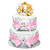 Pink Burt's Bees Newborn Baby Diaper Cake Gift for Girls by Gifts to Impress