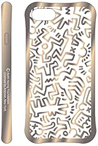 Keith Haring Collection TPU Case for iPhone 7 (Chaos/Metallic Gold)