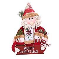 taofang 素敵な雪だるま家族サンタクロース家族のメリークリスマス人形ワードプレートクリスマス装飾用