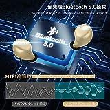 「令和最新版」BEESA Bluetooth イヤホン 完全ワイヤレスイヤホン 高音質 3Dステレオサウンド 自動電源ON/OFF 自動ペアリング 軽量 小型 持ち運び便利 AAC対応 Siri対応 技適&PSE認証済 (ゴルード) 画像