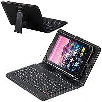 Navitech ブラックマイクロUSBキーボードケース/カバー TenYiDe 10.1インチ | Tianyida 10インチ 3G Phablet | Time2: 10インチタブレットに対応