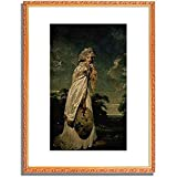 トーマス・ローレンス Lawrence, Sir Thomas「Bildnis der Elizabeth Farren.」インテリア アート 絵画 プリント 額装作品 フレーム:装飾(白) サイズ:L (412mm X 527mm)