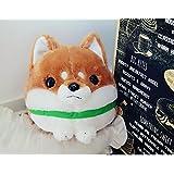 Un ncie Soft Animal Toys Simulation Mameshiba Plush Shiba InuToy Stuffed Shiba Inu Animal Toy Daily Home Decoration(Brown,28cm)