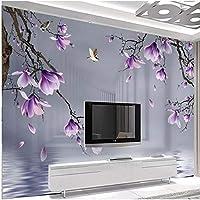 Xbwy 写真の壁紙モダンな3Dマグノリア鳥の花スペース壁画リビングルーム-400X280Cm