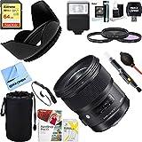 Sigma 24mm f / 1.4DG HSM広角レンズ(アート) for Nikon DSLRカメラマウント( 401–306) + 64GB究極フィルタ&フラッシュ写真バン..