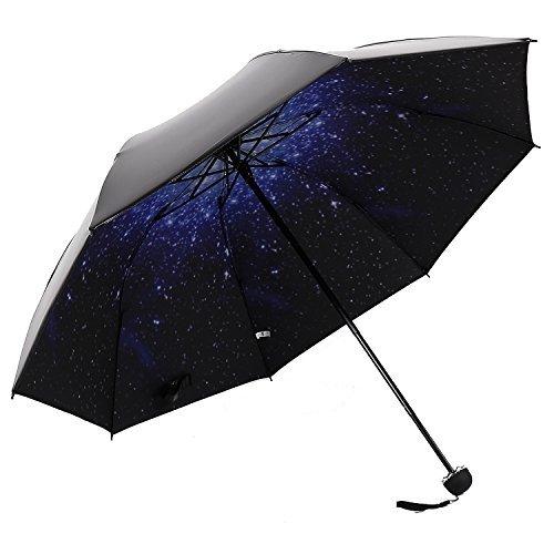 HaAimNay 折りたたみ傘 満点の星 日傘 晴雨兼用 遮...