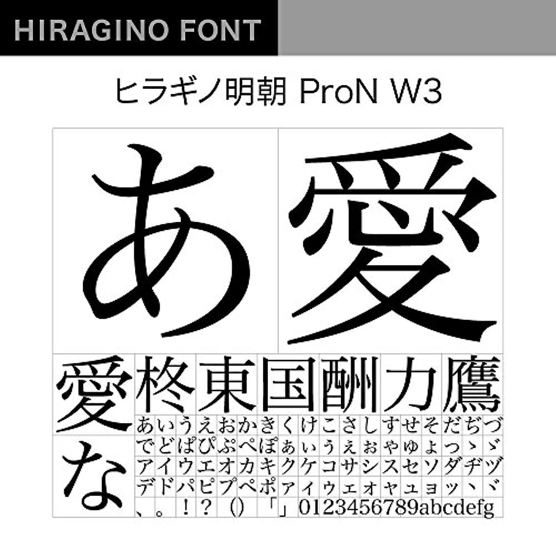 コンクリート酔った気体のOpenType ヒラギノ明朝 ProN W3 [ダウンロード]