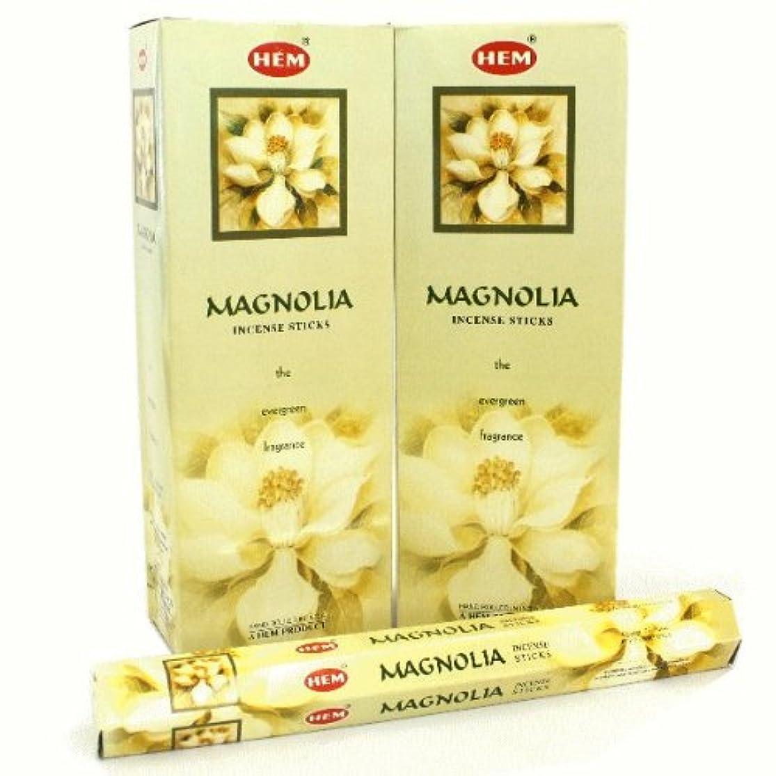 蒸発する氏我慢するHEM マグノリア香 スティック ヘキサパック(六角) 12箱セット HEM MAGNOLIA