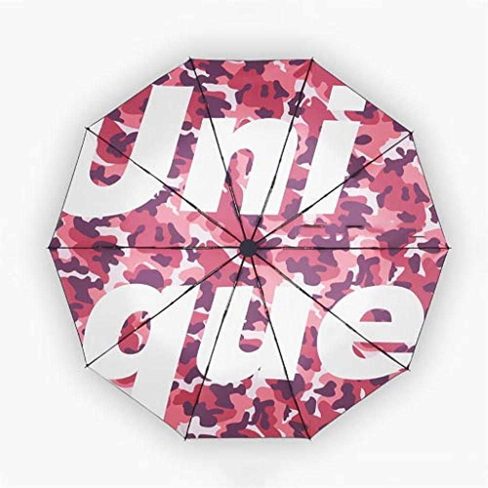 心臓敗北慢性的自動傘傘日焼け止め傘雨デュアルユース傘折りたたみ日傘 (色 : C)