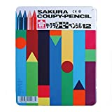 サクラクレパス クーピーペンシル12色(缶入り) FY12 00007449 【まとめ買い3個セット】
