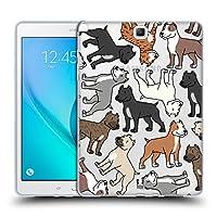 Head Case Designs ピットブルテリア ドッグブリード・パターン 3 Samsung Galaxy Tab A 9.7 専用ソフトジェルケース