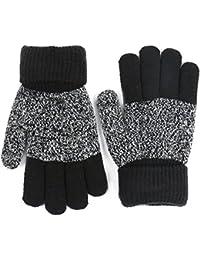 Seliyi 手袋 ニット 子供 手袋 裏地フリース 5本指手袋 軽量 厚手 汚れにくい 4-7歳子供に適用 暖かく グローブ