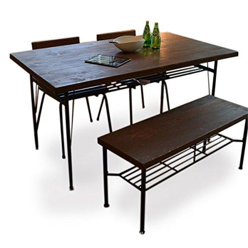 RoomClip商品情報 - 無垢 ダイニング4点セット KELT(ケルト) 140cm パイン材 ダイニングテーブル+チェア+ベンチ