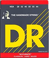 DR Handmade Strings NSA DR Accurate Deluxe Classical Silver Plated Nylon Hard Tension アコースティックギター アコギ ギター (並行輸入)