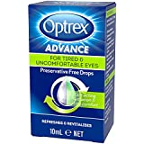 Optrex Advance Preservative Free Tired Eye Drops, 10ml