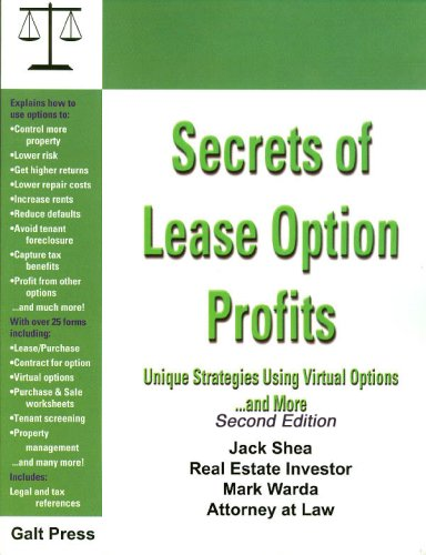Download Secrets of Lease Option Profits: Unique Strategies Using Virtual Options... and More 1888699078