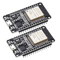 新型 ESP32 ESP-32S 2個セット NodeMCU-32S ESP32-WROOM-32 開発ボード 2.4GHz WiFi + Bluetoothデュアルモード デュアルコアCPU Arduino IDE使用可能 2個セット