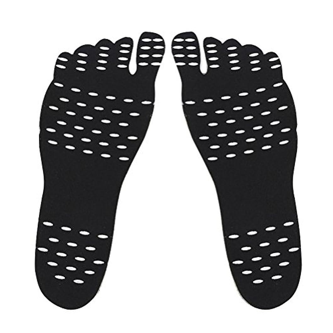 ささやき速い朝ごはん裸足足底目に見えない靴用HEALILYビーチフットパッド防水インソールSサイズ(ブラック)