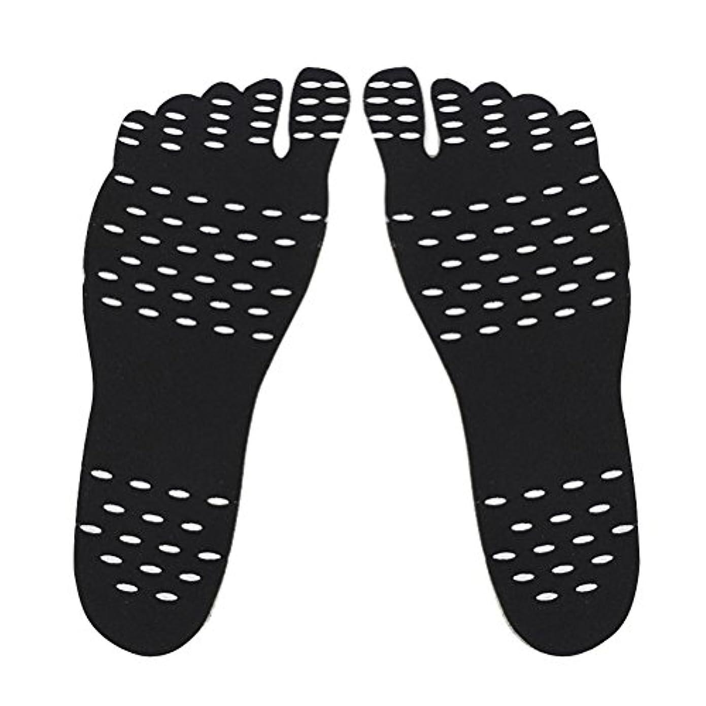 完全に乾くロマンチック横に裸足足底目に見えない靴用HEALILYビーチフットパッド防水インソールSサイズ(ブラック)