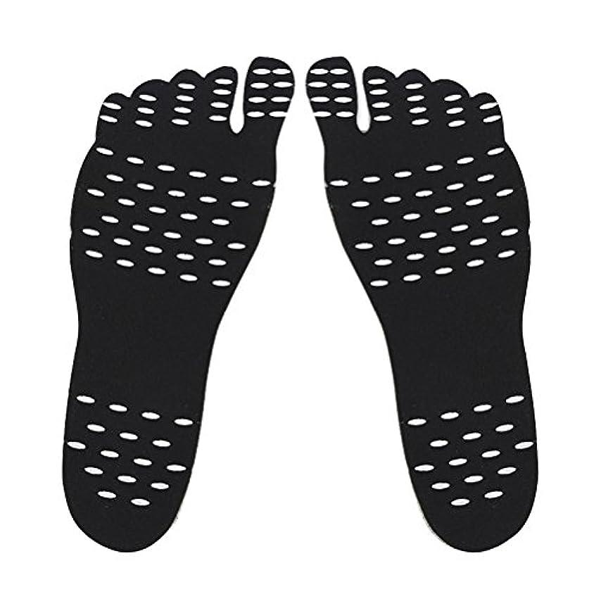 差別的近く倉庫裸足足底目に見えない靴用HEALILYビーチフットパッド防水インソールSサイズ(ブラック)