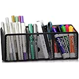 MINIMA Magnetic Pencil Holder - 3 Generous Compartments Magnetic Storage Basket Organizer - Extra Strong Magnets - Perfect Me