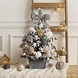 ミニ 人工 卓上 クリスマスツリ, クリスマス 装飾 ツリー 装飾品で エクスマス・ガーランド クリスマスの飾り用-gray 60cm(2 Feet)