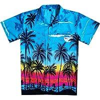 Virgin Crafts Hawaiian Shirts for Men Button Dowon Hibiscus Floral Aloha