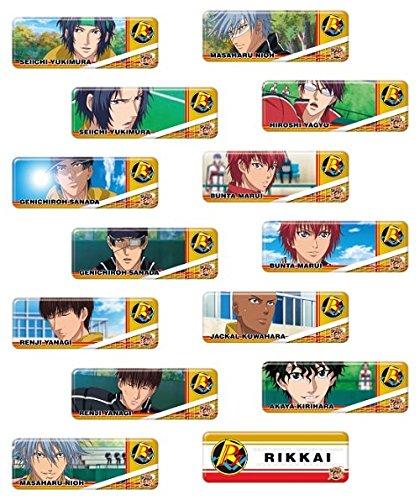 ロングカンバッジコレクション 新テニスの王子様 立海 BOX商品 1BOX=14個入り、全14種類