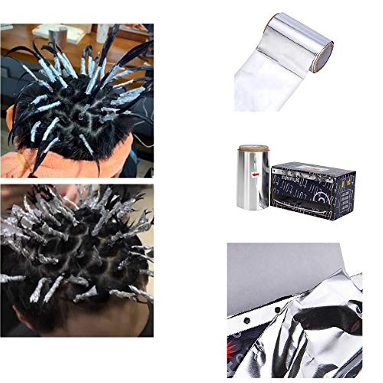 味付け予定プログラムACHICOO アルミ箔 テープ 耐熱性 理髪 美髪 用品 ヘアパーマスタイリング ツール ヘアカラー