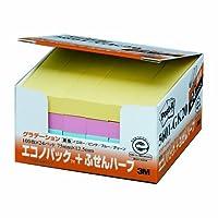 (まとめ買い) スリーエム ポストイット再生紙 エコノグラデーション 5601-GK 【×3】