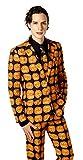メンズ スーツ パンツ ハロウィンスーツ パンプキン スーツ コスプレ ハロウィン メンズ オレンジ 3点セット