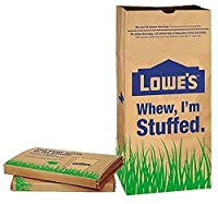 Lowe's 30 Gallon Heavy Duty Brown Paper Lawn and Refuse Bags for Home and Garden (10 Count) [並行輸入品]