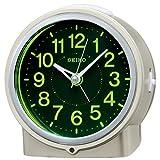 セイコー クロック 目覚まし時計 自動点灯 アナログ 集光樹脂文字板 夜でも見える 薄金色 パール KR886G SEIKO