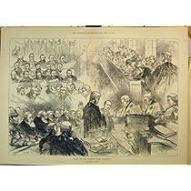 1879 人のスケッチの試験のグラスゴーの銀行取締役裁判所部屋