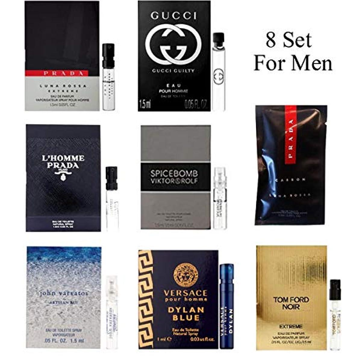 刑務所リール高い男性用 Eau de Parfum (Eau de Toilette) For Men Samples 8/set [海外直送品] [並行輸入品]