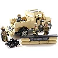 軍事移動車、模型軍兵士と銃