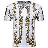 男性 Tシャツ、三番目の店 メンズ 夏 カジュアル プリント プルオーバー 半袖 シャツ トップス ブラウス 筋肉 ジム ボディービル